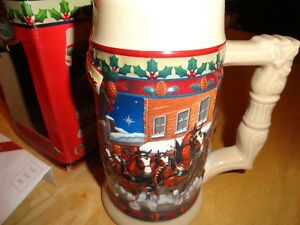 Excellent Christmas Gift...19 Collectable Budweiser Steins Sarnia Sarnia Area image 1