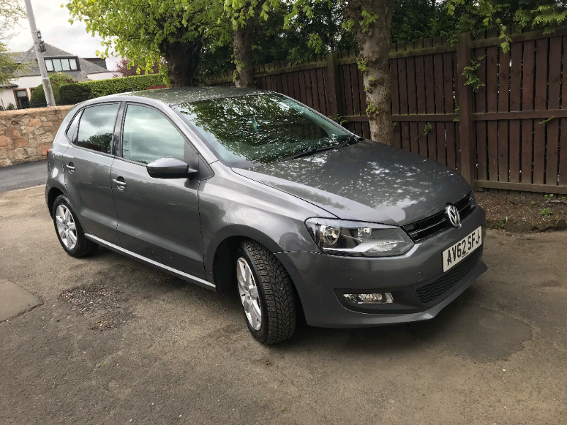 62 plate Volkswagen Polo Match TDi 5dr 1.2, Grey, low mileage