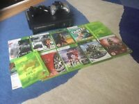 Xbox 360 elite with 10 games
