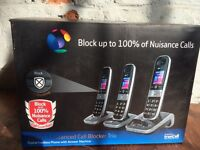 BT 3 way phone set £15