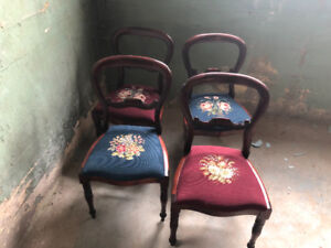 (Updated Aug 3) Antique Chairs & Antique Duncan Phyfe Table