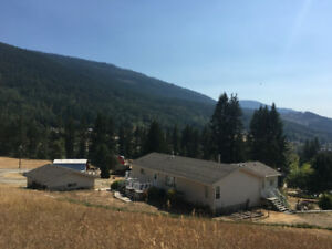 Creston Valley View Acreage with newer home, guest house & more