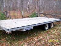 GALVANIZED FLAT BED TRAILER