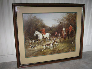 ...A Classy OLD ENGLISH HUNT SCENE...From the '70's...