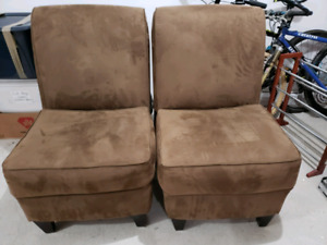 Two Microfibre Chairs