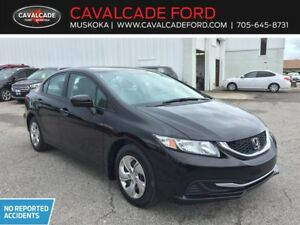 2015 Honda Civic LX CVT with backup cam, heated front seats!!