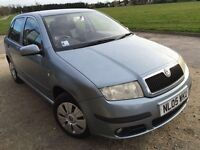 2005 SKODA FABIA AMBIENTE 1.4TDI MOT:16/07/2016 DIESEL 5SPEED AC CH BLUETOOTH MOBILE CONNECTION