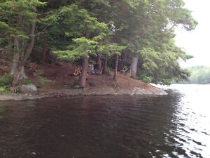 7 acres on a private lake for sale