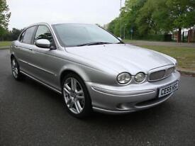 Jaguar X-TYPE 2.2D Sport Diesel Saloon, 2005 55, Silver with Full Black Leather,