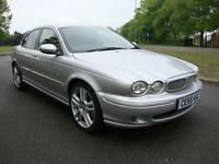 Jaguar X-TYPE 2.2D Sport Diesel Saloon, 2005 55, Silver with Full Black Leather,