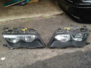 BMW E46 Xenon Headlights Sedan 328i, 325i, 330i, 323i