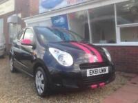 2011 11 Suzuki Alto 1.0 SZ2, BLACK & PINK, £20 Per year road tax.