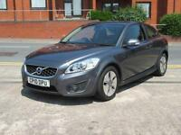 2010 V0LVO C30 1.6D DRIVe S DIESEL + RED LEATHER + 1 OWNER + FSH + £30 TAX