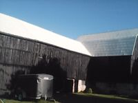 Steel roof install, painting and repair