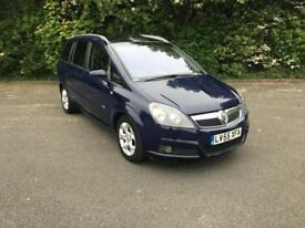 VAUXHALL ZAFIRA 1.9 CDTI DESIGN BLUE 5 DOOR MPV 7 SEATER DIESEL MANUAL 2005