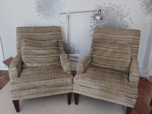 Pair of Quality&Comfortable modern armchairs-steal!