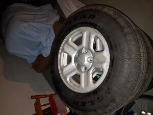 brand new jeep wrangler rims and tires!