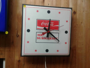 Coke and Mr Submarine Clock