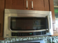 LG Stainless steel Microwave with charcoal vent