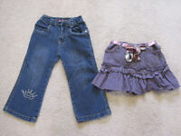 Jeans and skirt, both size 2. Only $5 each!