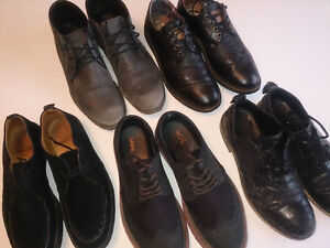 6 (six) pairs of designer shoes size 8 / 41 leather all for $100