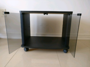 TV stand with wheels