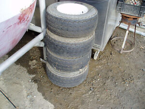 Trailer Tires or Lawn Tractor Tires 20.5 x 8 x 10  10ply with Ri