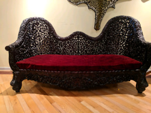 Beautiful wood carved sofa