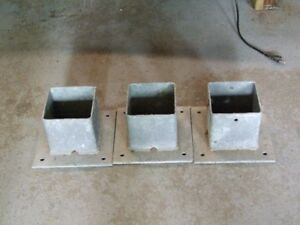 6 inch galvanized post holders.