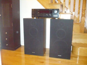 JVC Audio/Video Receiver    Technics speakers