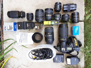 D7000 camera and lots of lenses!!