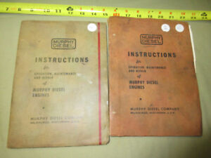 MURPHY DIESEL ENGINES INSTRUCTIONS MANUALS (2)