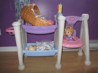 Module chaise haute, couchette, bain little tikes