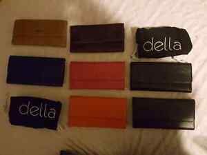 NEW DELLA LEATHER PURSES AND WALLETS