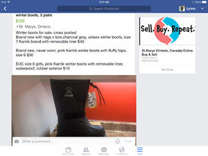 Girls winter boots for sale, brand new Stratford Kitchener Area image 1