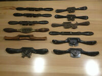 10 antique spokeshaves & carving knife