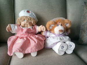 CABBAGE PATCH DOLL AND BEAR