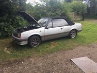 Vauxhall cavalier convertible 1986 classic car £700