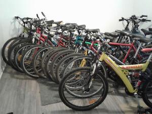 nous débarrassons notre entrepôt;vélo prêt  à partir de 40 $!!!