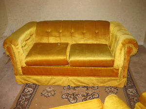 Couch and three chairs