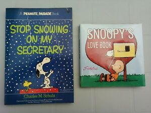Peanuts - Stop Snowing on My Secretary and Snoopy's Love Book