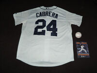 Detroit Tigers 24 Cabrera Jersey, Don Kelly signed ball, DVD