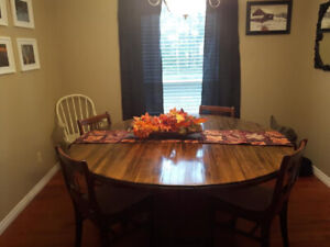 Large Hand Made Round Dining Table
