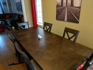 Beautiful real wood dining room table