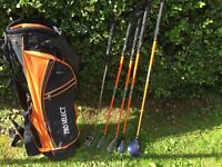 Wilson pro staff set of golf clubs with golf bag