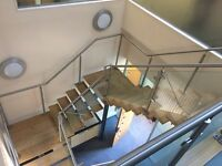 Steel and wood staircase