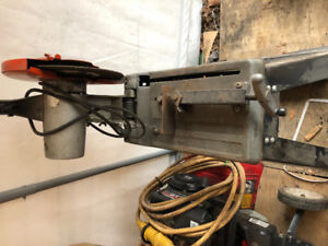 METAL CUT OFF SAW WITH STAND-WORKS GREAT-$75.00