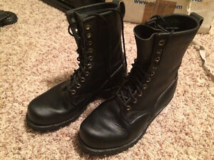 6.5 EE Dayton Black Leather Boots