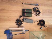 Aquarium starter pack, filters, heater, lighting +++