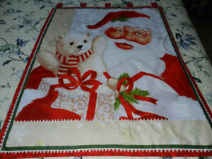 for sale a New Santa with a Teddy Bear wall hanging